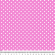 Mintás barkácsfilc méteráru - pink alapon fehér pöttyös