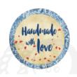 Mintás barkácsfilc - handmade with love - kék