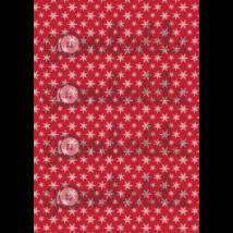 Mintás barkácsfilc - piros alapon fehér hópihék - 5db vagy 10db
