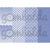 Mintás barkácsfilc - kék hullámok - 5db vagy 10db