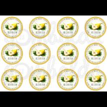 Befőző címke mintás barkácsfilc - körte - 60mm - 5db vagy 10db