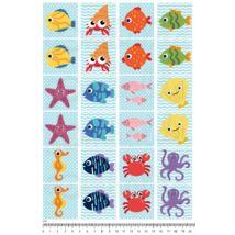 Mintás barkácsfilc - memória játék alap - tengeri állatok