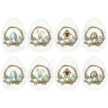 Mintás barkácsfilc - Natural Easter - koszorús tojások