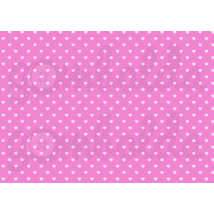 Mintás barkácsfilc - pink alapon fehér szívek - 5db vagy 10db