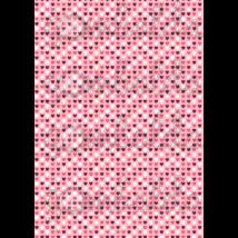 Mintás barkácsfilc - rózsaszín alapon apró szívek - 5db vagy 10db