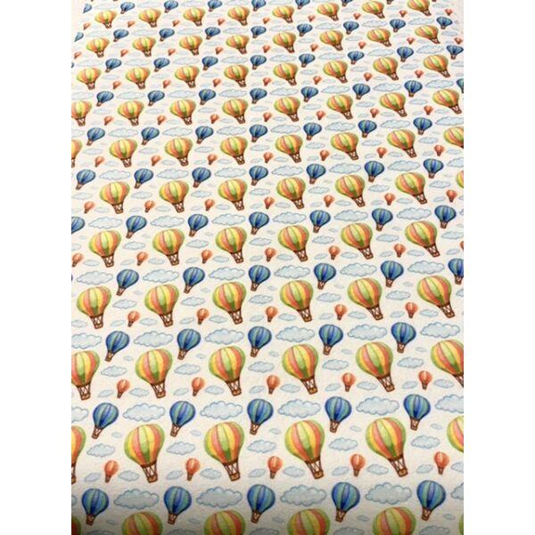 Mintás barkácsfilc méteráru - hőlégballonok - 1,8m