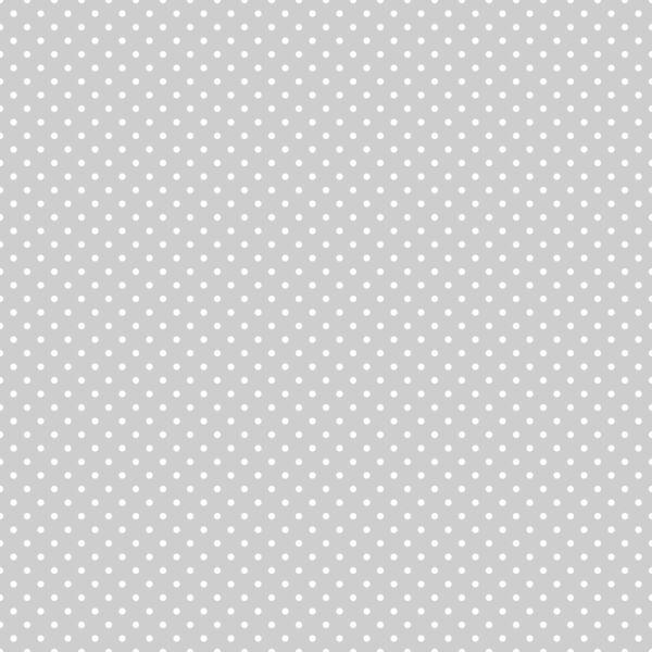 Mintás barkácsfilc méteráru - shabby chic - szürke alapon fehér pöttyös - 1,8m