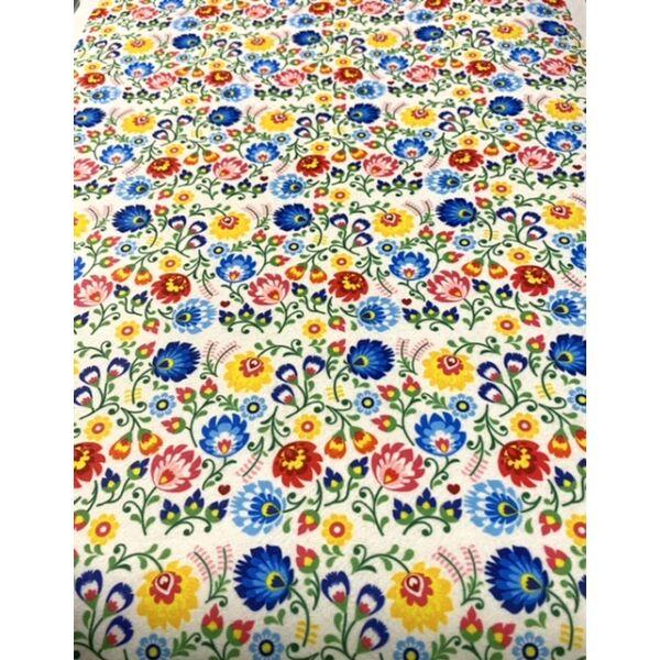 Mintás barkácsfilc méteráru - absztrakt virágok - 1,8m