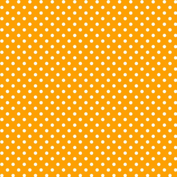 Mintás barkácsfilc méteráru - narancs alapon fehér pöttyös