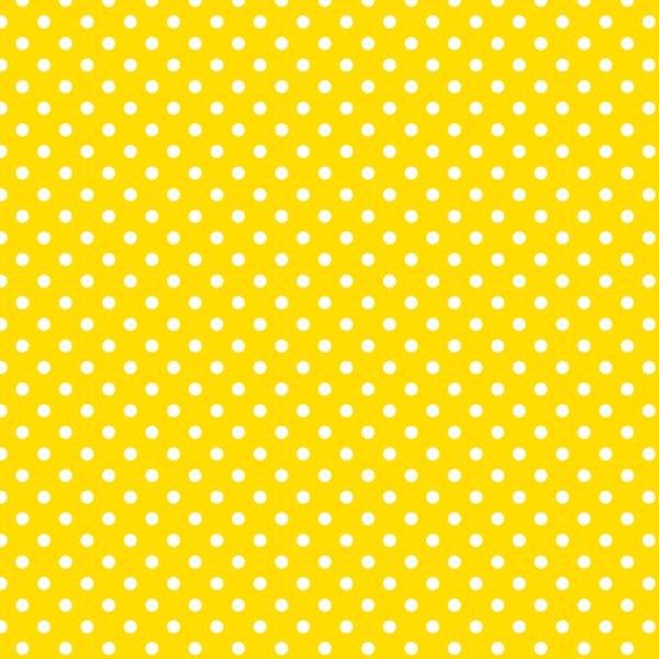 Mintás barkácsfilc méteráru - sárga alapon fehér pöttyös