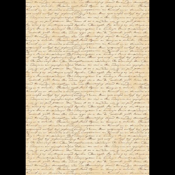 Mintás barkácsfilc - kézírás régi papíron - 5db vagy 10db