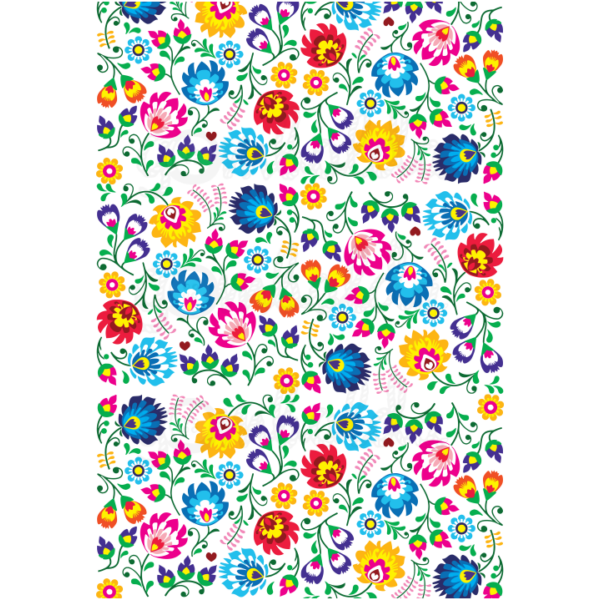 Mintás barkácsfilc - absztrakt virágok - 5db vagy 10db