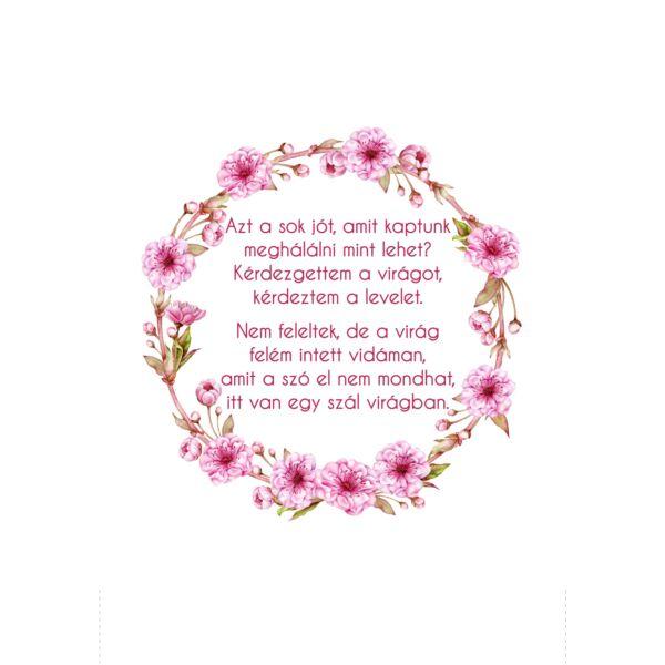 Mintás barkácsfilc - Azt a sok jót... - cseresznyevirággal - hímzőkeretbe