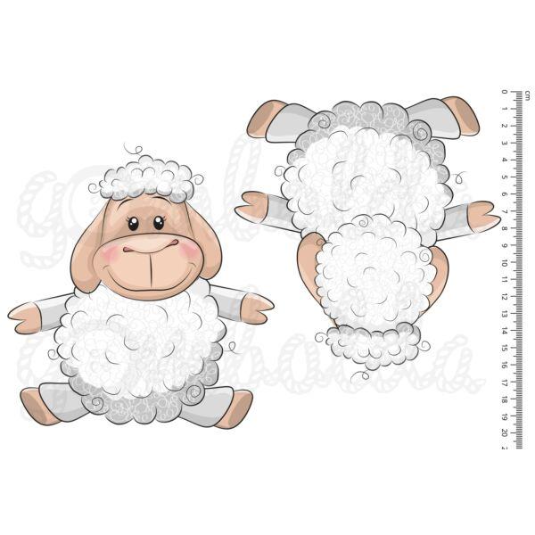 Mintás barkácsfilc - cuki állatok - kivágható bárányok - 1 pár
