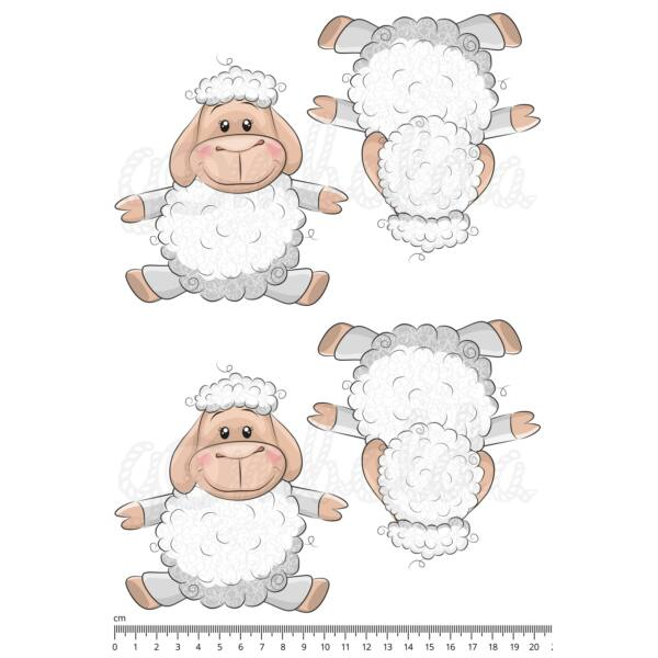 Mintás barkácsfilc - cuki állatok - kivágható bárányok - 2 pár