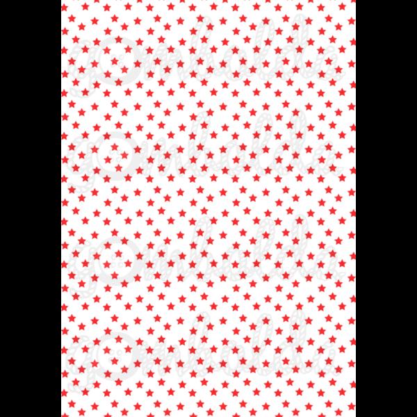 Mintás barkácsfilc - fehér alapon piros csillagok - 5db vagy 10db