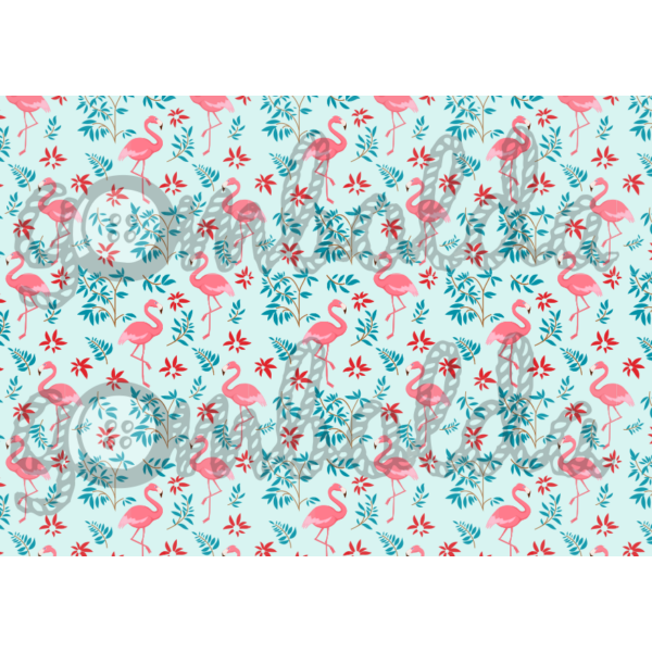 Mintás barkácsfilc - flamingók kicsiben - 5db vagy 10db