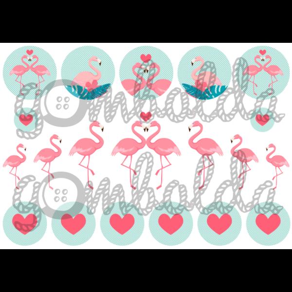 Mintás barkácsfilc - flamingós szett - 5db vagy 10db