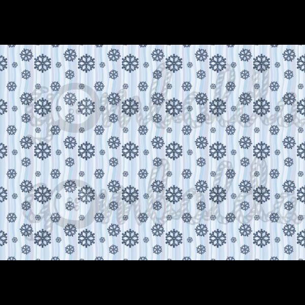 Mintás barkácsfilc - kék hópihék - 5db vagy 10db