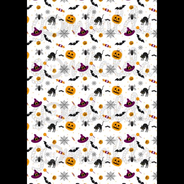 Halloween mintás barkácsfilc - vegyes - 5db vagy 10db