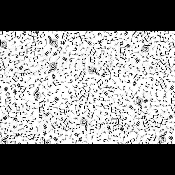 Mintás barkácsfilc - hangjegyek - 5db vagy 10db