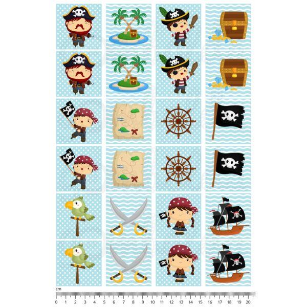 Mintás barkácsfilc - memória játék alap - kalózok