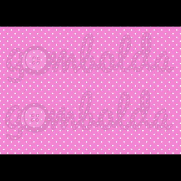 Mintás barkácsfilc - pink alapon apró fehér pöttyös - 5db vagy 10db