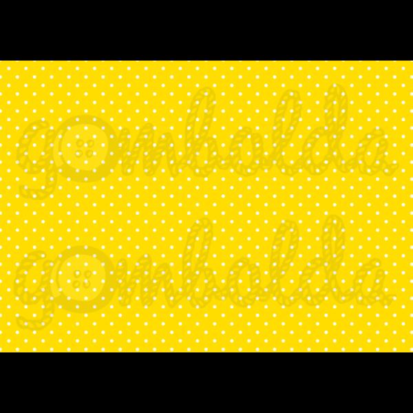 Mintás barkácsfilc - sárga alapon apró fehér pöttyös - 5db vagy 10db