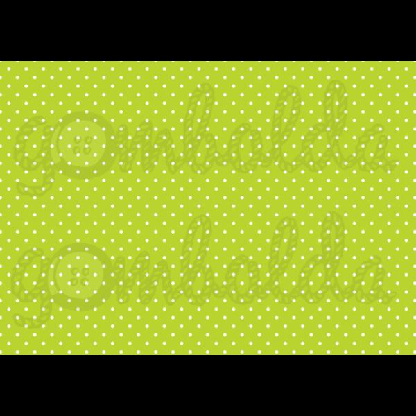 Mintás barkácsfilc - zöld alapon apró fehér pöttyös - 5db vagy 10db