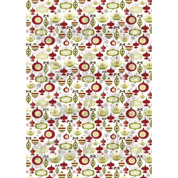Mintás barkácsfilc - retro karácsonyfadíszek kicsiben - 5db vagy 10db
