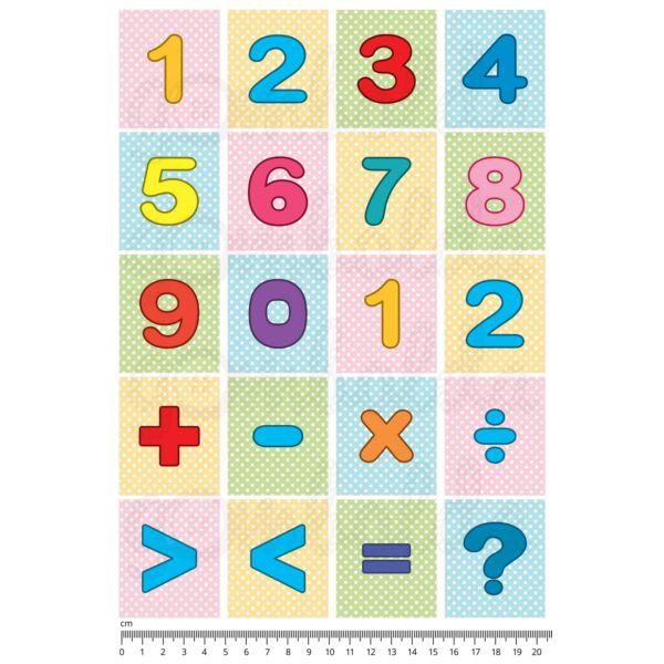 Mintás barkácsfilc - számolós kártyák - műveletek