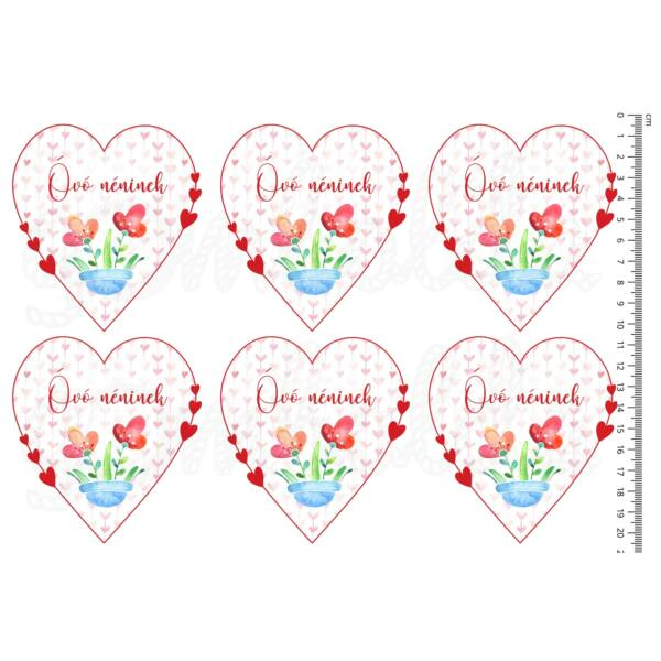 Mintás barkácsfilc - szíves szívek - Óvó néninek