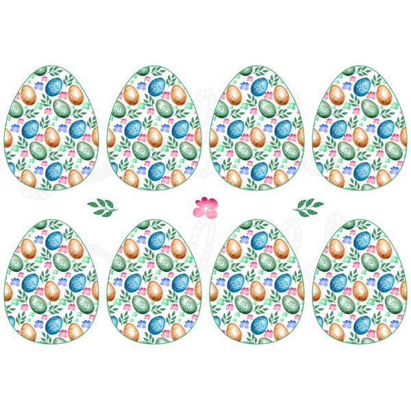 Mintás barkácsfilc - tojás mintás tojások