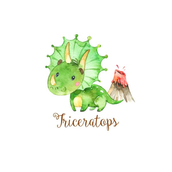 Mintás barkácsfilc - Dinosaurs - triceratops