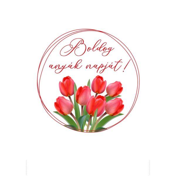 Mintás barkácsfilc - Boldog anyák napját! hímzőkeretbe - tulipános